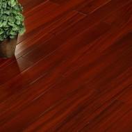圆盘豆红色锁扣DJ-911  纯实木地热地板